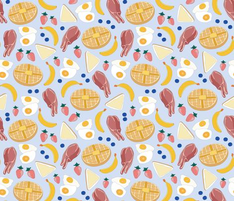 Breakfast Food fabric by she's_that_wallflower on Spoonflower - custom fabric