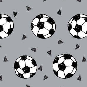 soccer fabric // grey soccer football fabric boys sports design