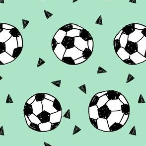 soccer fabric // mint green soccer football fabric boys sports fabric girls sports