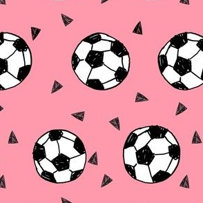 soccer fabric // soccer football fabric pink girls sports fabric