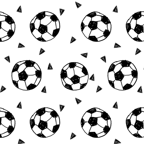 soccer ball fabric // soccer fabric sports fabric footballs fabric fabric by andrea_lauren on Spoonflower - custom fabric