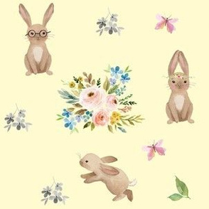 Spring Time Fun Bunnies / Yellow