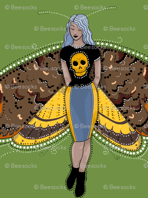Death's head moth fairy