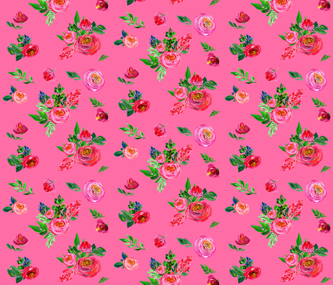 Pink Summer / Bright Pink fabric by shopcabin on Spoonflower - custom fabric