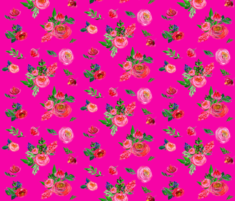 Pink Summer / Very Bright Pink fabric by shopcabin on Spoonflower - custom fabric