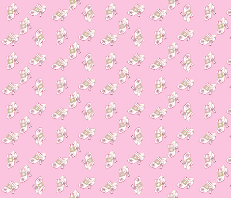 Antique Shoe - pink fabric by kathleenbruceillustration on Spoonflower - custom fabric