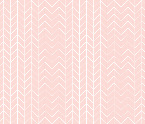 chevron blush pink fabric fabric by charlottewinter on Spoonflower - custom fabric