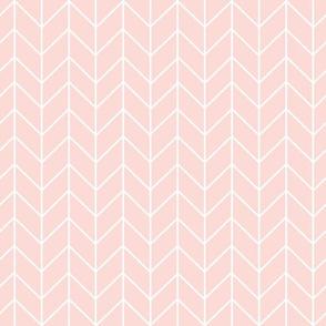 chevron blush pink fabric