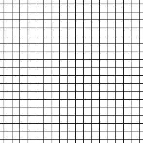 "black and white windowpane grid 1"" square check graph paper"