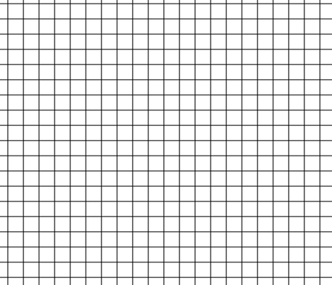 "dark grey windowpane grid 1"" square check graph paper fabric by misstiina on Spoonflower - custom fabric"