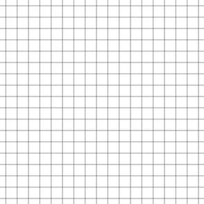 """grey windowpane grid 1"""" square check graph paper"""