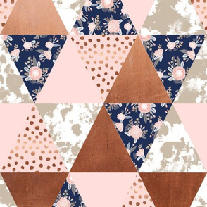 cheater quilt rose gold sonia florals fabric cheater triangle quilt fabric