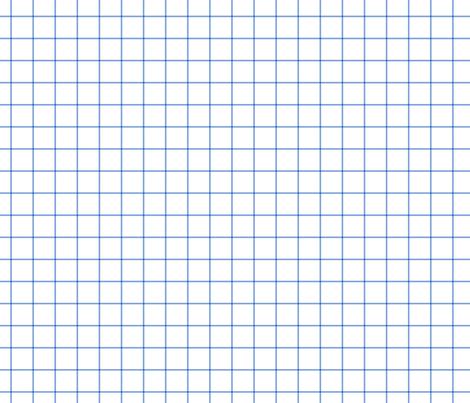 "cornflower blue windowpane grid 1"" square check graph paper fabric by misstiina on Spoonflower - custom fabric"