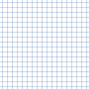 "cornflower blue windowpane grid 1"" square check graph paper"