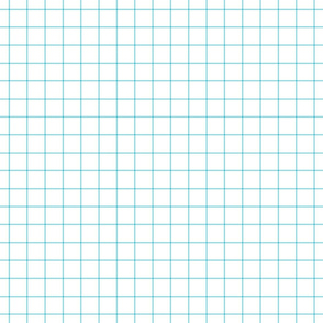 sky blue windowpane grid 1""