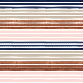 painter stripes painted stripe rose gold navy and blush pink