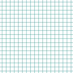 "teal windowpane grid 1"" square check graph paper"