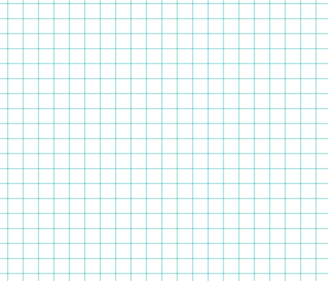 "light teal windowpane grid 1"" square check graph paper fabric by misstiina on Spoonflower - custom fabric"