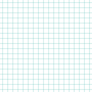 "light teal windowpane grid 1"" square check graph paper"