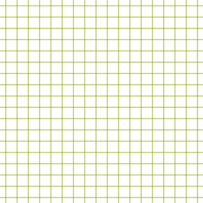 "lime green windowpane grid 1"" square check graph paper"