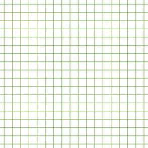 """apple green windowpane grid 1"""" square check graph paper"""