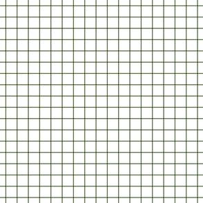 """hunter green windowpane grid 1"""" square check graph paper"""