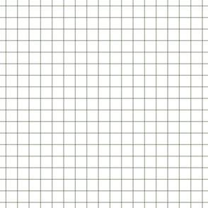 "sage green windowpane grid 1"" square check graph paper"