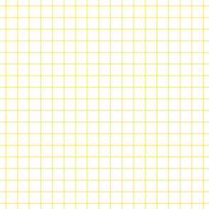 lemon yellow windowpane grid 1""