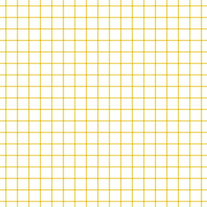 "mustard yellow windowpane grid 1"" square check graph paper"