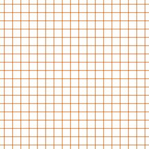 """orange windowpane grid 1"""" square check graph paper"""