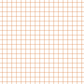 "tangerine windowpane grid 1"" square check graph paper"