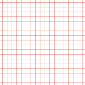 peach windowpane grid 1""