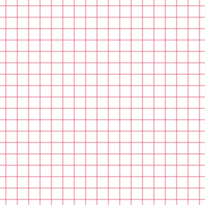 "pretty pink windowpane grid 1"" square check graph paper"
