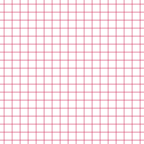 hot pink windowpane grid 1""