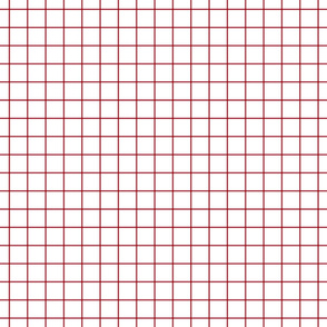 red windowpane grid ""