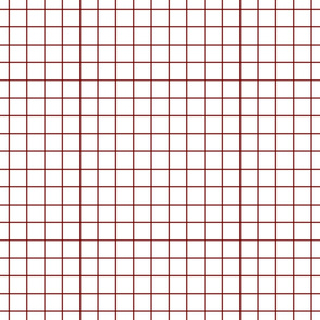 "dark red windowpane grid 1"" square check graph paper"