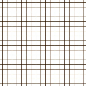 "brown windowpane grid 1"" square check graph paper"