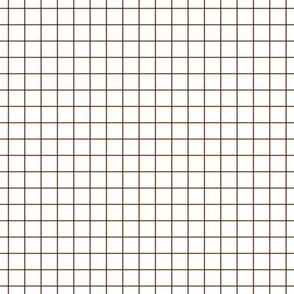 "chocolate brown windowpane grid 1"""