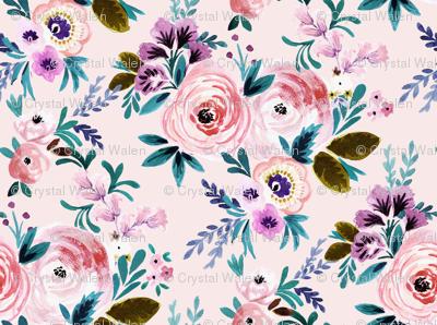 Victorian Floral Blush