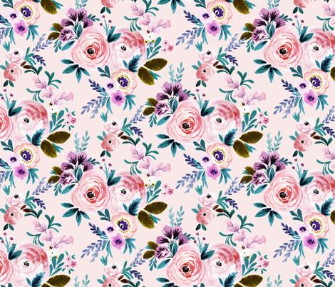 Victorian Floral Blush fabric by crystal_walen on Spoonflower - custom fabric