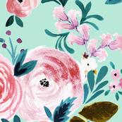 Victorian Floral Mint