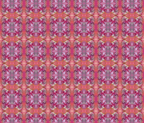 Bohemian Coral and Pink fabric by peaceofpi on Spoonflower - custom fabric