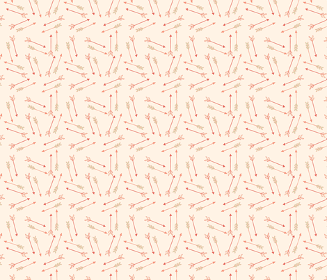 pattern-coral-arrows fabric by annaland on Spoonflower - custom fabric