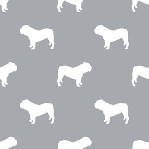 English Bulldog silhouette dog fabric quarry