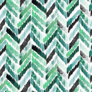Tropical Ikat Emerald