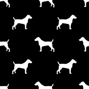 jack russell silhouette fabric dog silhouette fabric - black
