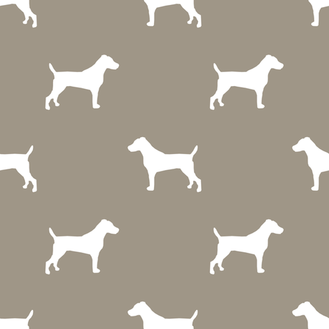 jack russell silhouette fabric dog silhouette fabric - medium brown fabric by petfriendly on Spoonflower - custom fabric