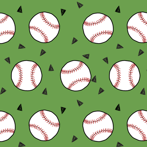 basketball fabric // sports basketball themed fabric -green fabric by andrea_lauren on Spoonflower - custom fabric