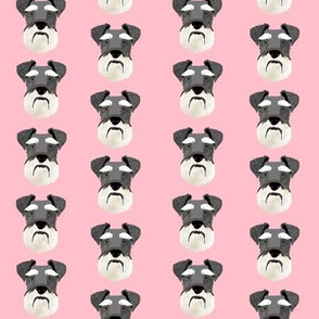 schnauzer head fabric dog head fabric dogs pets pet fabric - pink