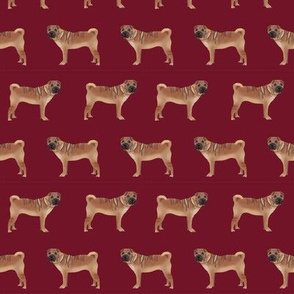 sharpei fabric dog design pattern pet friendly original design  - ruby